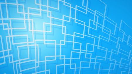 Abstract background of dark red intersecting squares with shadows in light blue colors Ilustração