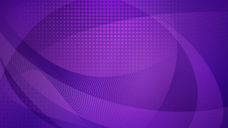 Abstract background of curved surfaces and halftone dots in purple colors Иллюстрация