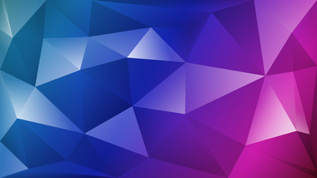 Abstract polygonal background of many triangles in blue and purple colors