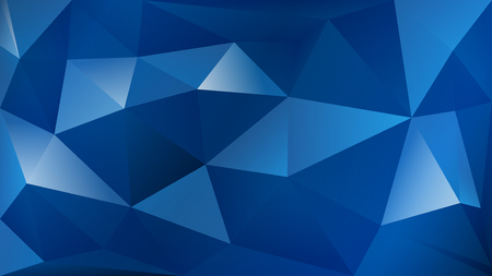 Abstract polygonal background of many triangles in blue colors 일러스트