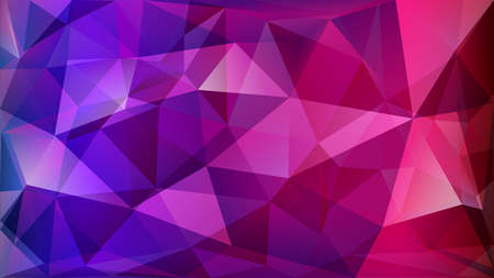 Abstract polygonal background of many triangles in purple colors