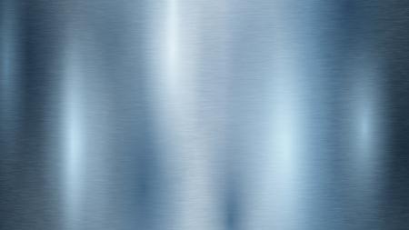 Abstrait avec texture en métal de couleur bleu clair Vecteurs