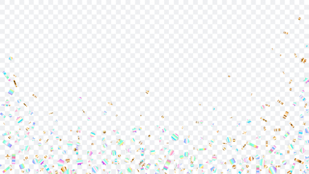 Colorful sparkles bottom and sides, on transparent background