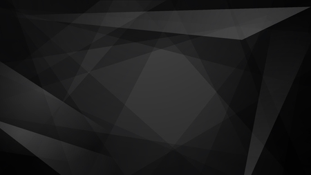Abstract background of straight intersecting lines and polygons in black colors