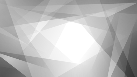 Abstract background of straight intersecting lines and polygons in gray colors