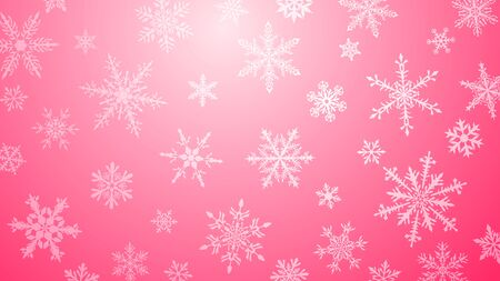 Christmas  with various complex big and small snowflakes in pink colors