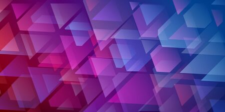 Abstract  of intersecting triangles and polygons in purple and blue colors Ilustração