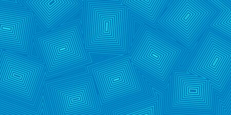 Abstract background of concentric squares in light blue colors