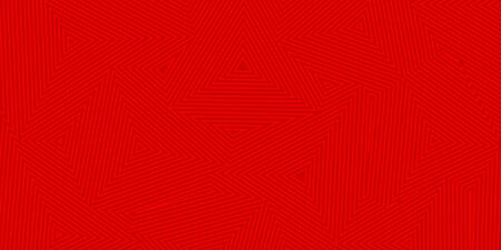 Abstract  of concentric triangles in red colors