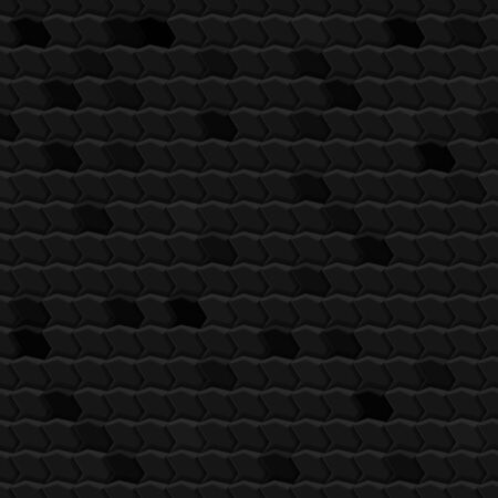Abstract seamless pattern of tiles fitted to each other, in black and gray colors