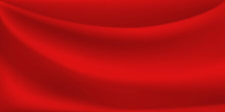 Abstract background with wavy surface in red colors Иллюстрация