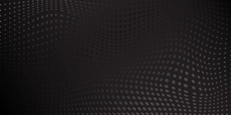 Abstract background made of halftone dots in black and gray colors