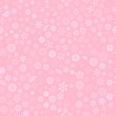 Seamless pattern with floral texture of small flowers in pink colors Vettoriali