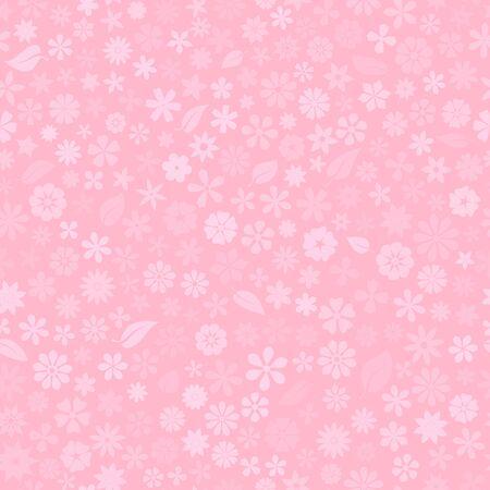 Nahtloses Muster mit floraler Textur von kleinen Blumen in rosa Farben Vektorgrafik