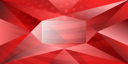 USA independence day abstract background with elements of the american flag in red colors