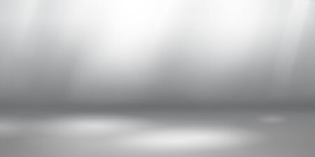 Empty studio background with soft lighting in white and gray colors