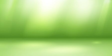 Empty studio background with soft lighting in green colors