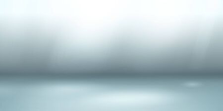Empty studio background with soft lighting in light blue colors