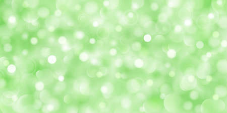 Abstract background of big and small translucent circles in green colors with bokeh effect Иллюстрация