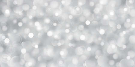 Abstract background of big and small translucent circles in gray colors with bokeh effect