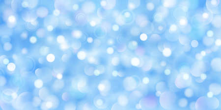 Abstract background of big and small translucent circles in light blue colors with bokeh effect