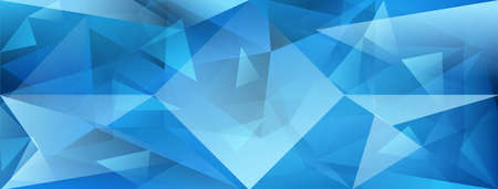 Abstract crystal background with refracting of light and highlights in light blue colors