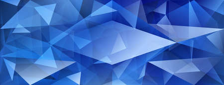 Abstract crystal background with refracting of light and highlights in blue colors