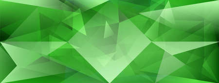 Abstract crystal background with refracting of light and highlights in green colors Ilustração