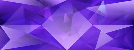 Abstract crystal background with refracting of light and highlights in purple colors Ilustração