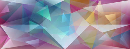 Abstract crystal background with refracting of light and highlights in different colors