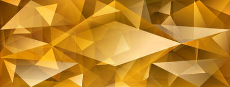 Abstract crystal background with refracting of light and highlights in yellow colors