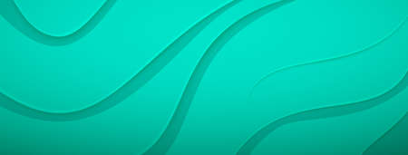 Abstract background with relief wavy surface in turquoise colors