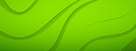 Abstract background with relief wavy surface in green colors
