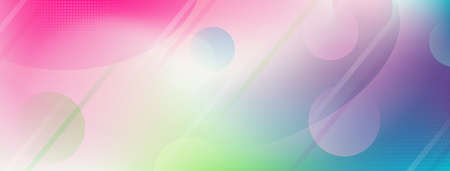 Abstract multicolored background with dots, lines and circles