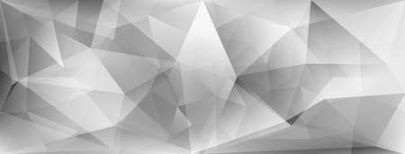 Abstract crystal background with refracting of light and highlights in gray colors