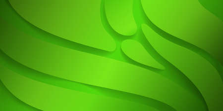 Abstract background with smooth wavy shapes in green colors