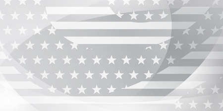 USA independence day abstract background with elements of american flag in gray and white colors