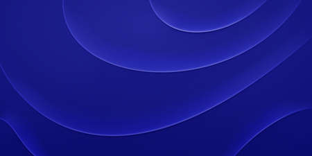 Abstract background with wavy folds in blue colors