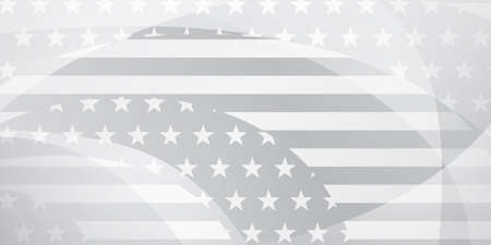USA independence day abstract background with elements of american flag in gray and white colors Vektoros illusztráció