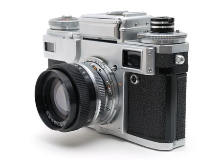 Old photo camera. Made in USSR photo