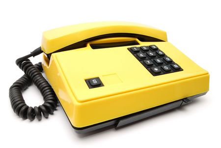 Old yellow telephone