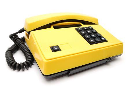 Old yellow telephone