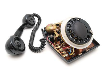 disassembled: Disassembled black phone