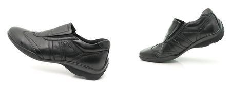 mans: Worn mans footwear