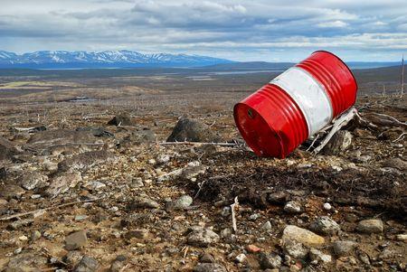 Metallic barrel Stock Photo - 4960229