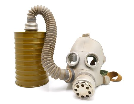 Old Soviet gas mask  Stock Photo