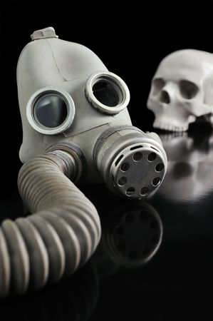 gas mask and Skull photo