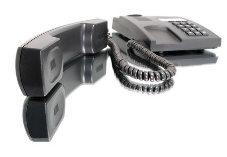telephone on a mirror.  Stock Photo