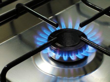 estufa: Llama azul Estufa de gas de cocina