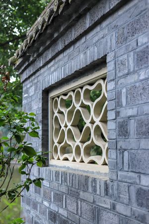 Antique building wall with window